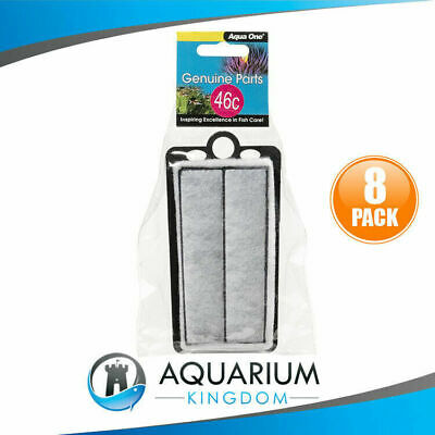 8x 25046C Aqua One Carbon Cartridge 46C - ClearView 200 Replacement Filter Media