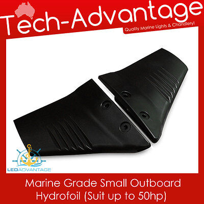 Black Marine Grade Boat Engine Small Hydrofoil Suitable For Outboards Up To 50Hp