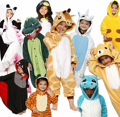 New Kigurumi Pajamas Children's Unisex Cosplay Animal Costume Onesie for Kids