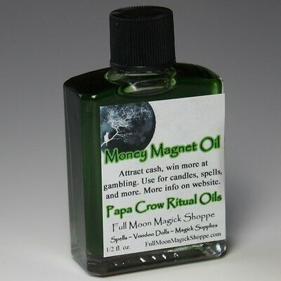 Money Magnet Oil Anoint Candles Use Spells Wicca Voodoo Full Moon Money Magic