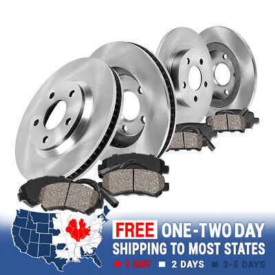 Front and Rear Rotors Ceramic Pads 1999 2000 2001 2002 2003 2004 2005 VW JETTA