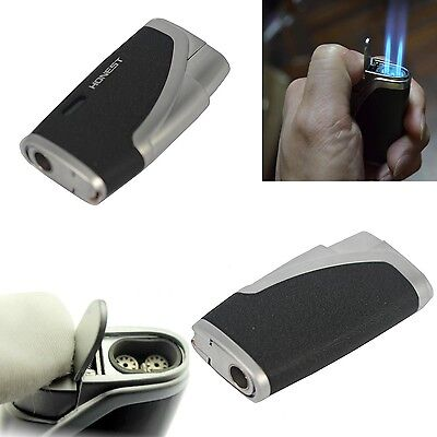Windproof Lighter Jet Flame Windproof Refillable Butane Gas Cigarette Cigar