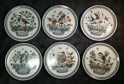 6 Rare Bird Coaster Month Ole Winther Hutschenreuther May July Aug Oct Nov Dec