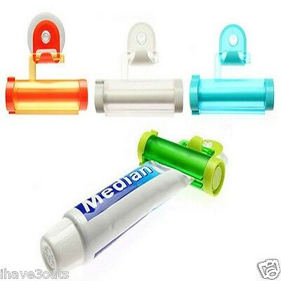 Rolling Toothpaste Tube Squeezer And Holder Bathroom Accessory Assorted Colours