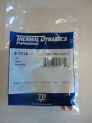 Quantity of 10 Thermal Dynamics Professional 50-60 Amp Cutting Tips NEW! 8-7514