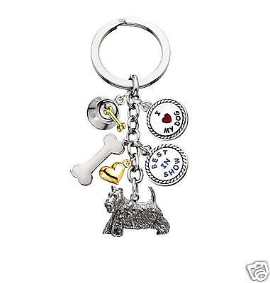Little Gifts SCOTTISH TERRIER  dog pet 6 Charm Key Chain ring gifts