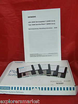 "SIEMENS SOFTWARE on 3.5"" SW Y2K Service Pack 7 00350259-01 pl ea mch paket"