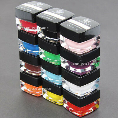 12 Colour New Professional Solid Pure Pigment UV Gel Polish Nail Art 8ml #302