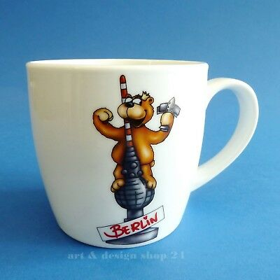 "BERLIN SOUVENIR - Berliner Bär - Comic Art Mug Bear ""Coffee Mug TV TOWER"" - NEU!"