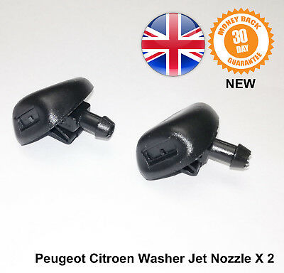 Peugeot 407 Front Windscreen Washer Jets Jet Nozzle New 6438E6 Pair