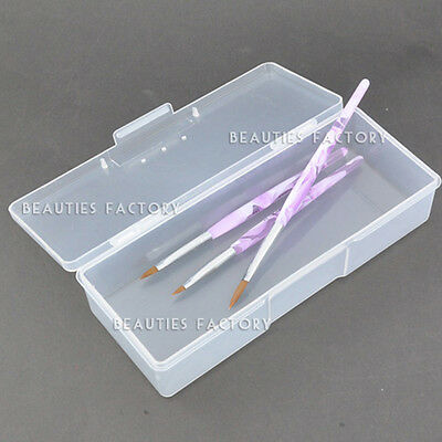 BF Case Box Holder 4 Nail Art Brushes Storage Container Large - Clear 752C