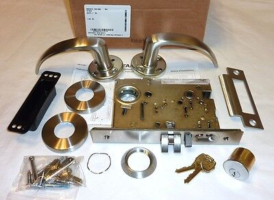 Falcon MA521L QG 630 Entry Office Mortise Lock Quantum Gala w/ Cyl STAINLESS NEW