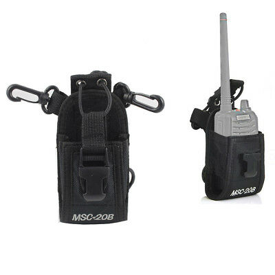 Radio Holder Pouch Case For Motorola Kenwood Walkie Talkie 2 Way Radio USA STOCK