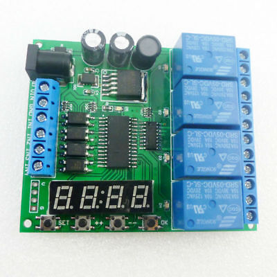 DC12V 4Ch Multi-function Delay Timer Control Switch LED PLC Home Lamp Motor