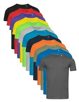 Mens Plain Slim Fit Crew Neck Cotton Tee T-Shirt S-XXL Body Fit. Our ref ST5500