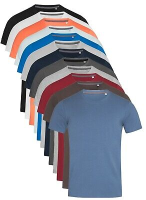 Mens Plain Slim Fitted Body Fit Cotton + Elastane Fashion Tee T-Shirt Tshirt