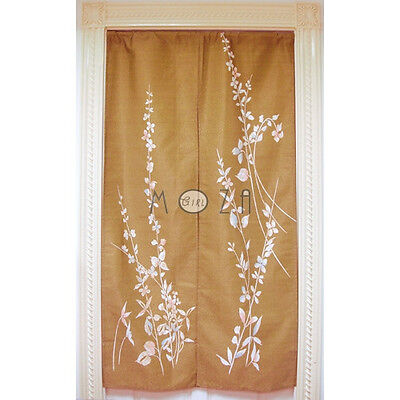 Japanese Noren Tapestry Door Curtain Branch and Leaf 100% Polyester 82cm x 140cm