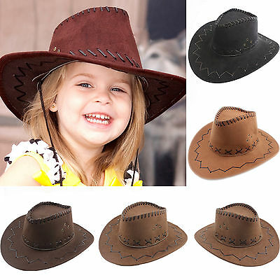 Halloween Style Western Cowgirl Cowboy Hat For Kid Boys Gilrs Party Costumes Cap