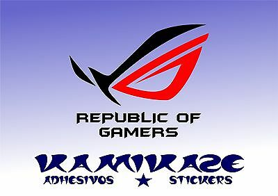 Adhesivo Pegatina Sticker Autocollant Adesivi Aufkleber Decal Republic Of Gamers
