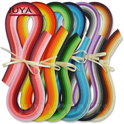JUYA Paper Quilling 36 Colors,540mm Length,3/5/7/10mm width,720 strips total