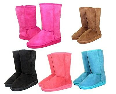 ALING-8K Brand New Casual Cute Kids/Toddlers/Youth Mid-Calf Flats Winter Boots