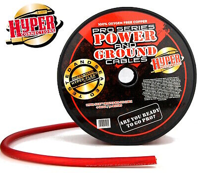 Hyper Connections Pro Pure Ofc 4 Awg Car Audio Amp Power Cable By The Meter!