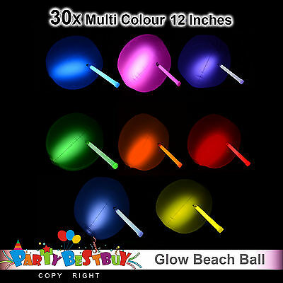 30X 12inches Glow Beach Ball Glow Sticks balls Party Glow in the dark Glowsticks