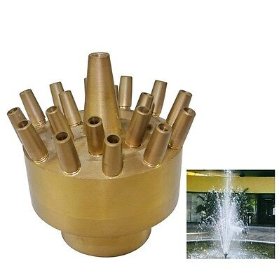 "NAVA DN40 1 1/2"" 3 Tiers Flower Fireworks Water Fountain Nozzle  Pond Sprinkler"