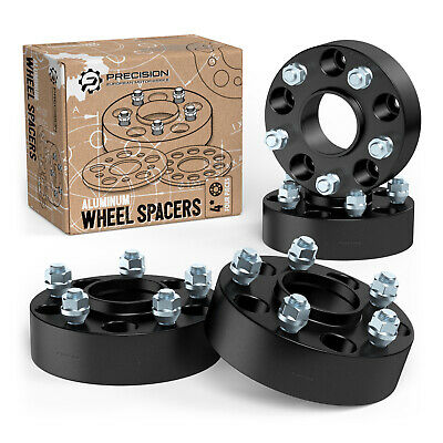 "4pc 1.5"" 5x4.5 to 5x4.5 Hubcentric Black Wheel Spacers Ford Explorer Sport Trac"