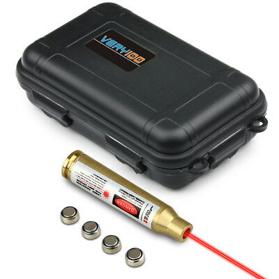 VERY100 Tactical 223 REM Brass Red Laser Cartridge Bore Sighter +Waterproof Case