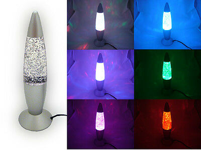 Multi Color Changing USB LED Glitter Lamp Party Mood Night Light