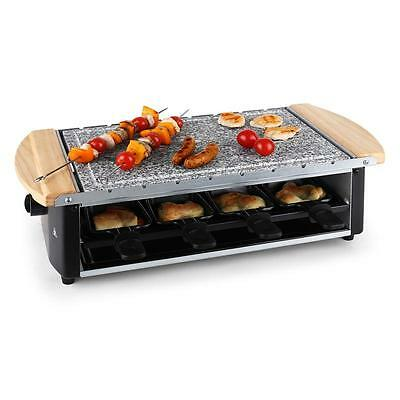 New 1200W Raclette Grill & Bbq Skewer Stone Hot Plate Set *free P&p Uk Offer