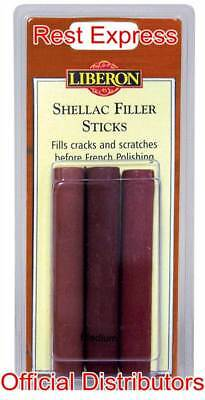Liberon Shellac Filler Sticks - Fills Holes & Cracks in Wood - * All Colours *