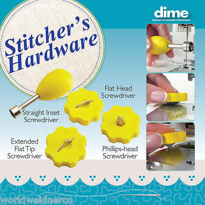 Designs in Machine Embroidery DIME Stitcher's Hardware Screwdriver Set Sewing