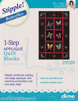 Designs in Machine Embroidery DIME Stipple! Butterflies STP0050