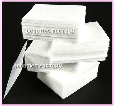 400 X Nail Art Manicure Polish Remover Cleaner Wipe Lint Free Cotton Pads Paper
