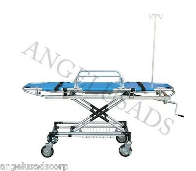 Medical Emergency Hospital Aluminum Alloy Trolley Stretcher Blue Camilla USA