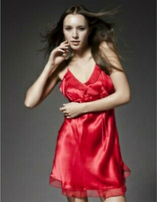 Delivery <5 days Women's Satin Silk Pajamas Slip Lingerie Nightgown home wear