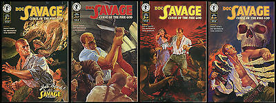 Doc Savage Curse of the Fire God Comic set 1-2-3-4 Lot Gary Gianni Man of Bronze
