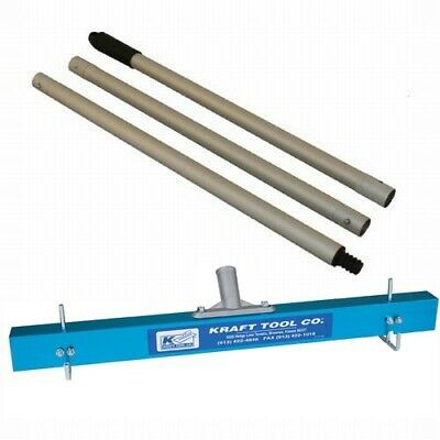 Kraft Tool Gauge Rake for Applying Self Leveling Compounds 24-inch w/Handle