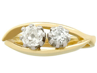 Antique and Contemporary, 0.81 ct Diamond and 18k Yellow Gold Dress Ring