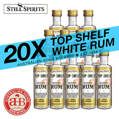 20 x Still Spirits Top Shelf White Rum homebrew spirit essence distilling