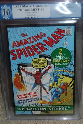 Spider-Man #1 PGX 10.0 Marvel MINT 2007 Reprint USPS Like CGC not 9.8 or 9.9 cm