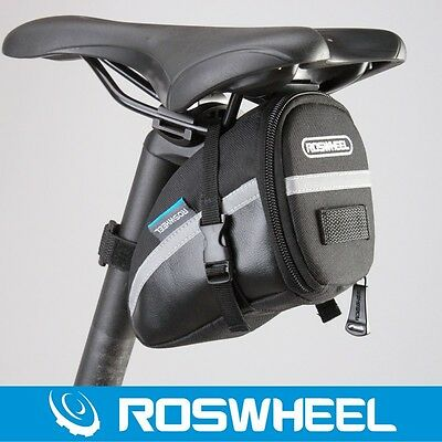 ROSWHEEL Outdoor Bike Bicycle Cycling Saddle Bag Tail Rear Pouch Seat Storage