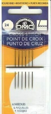 DMC Cross Stitch Needles size 22, 24, 26 or 28