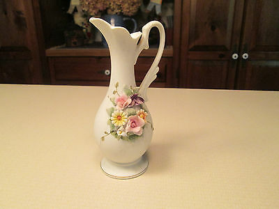 Lefton China Pitcher, Hand Painted, KW829