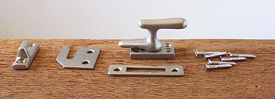 Reproduction Solid Brass Casement Window Latch with Brushed Nickel Finish