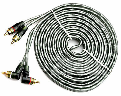 Grey 15' FT 2 CH Copper Wire Cables Amplifier Wiring Kit Car stereo RCA Connect