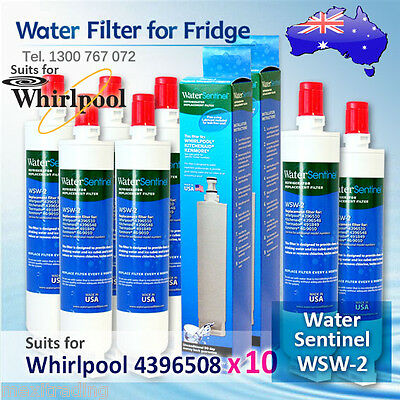10X Water Sentinel WSW-2 Replacement Fridge Filter for Whirlpool 4396508