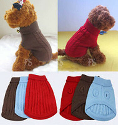 Cute Pet Dog Warm Jumper Sweater Clothes Puppy Cat Knitwear Costume Coat